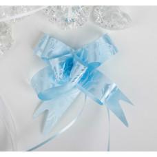 Бант-бабочка 1,8 см, голубой, диаметр 8 см