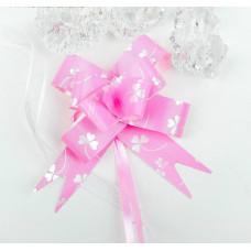 Бант-бабочка 1,8 см, розовый, диаметр 8 см