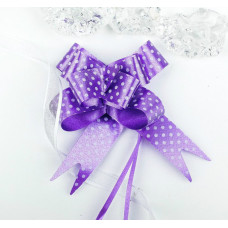 Бант-бабочка 1,8 см, фиолетовый, диаметр 8 см