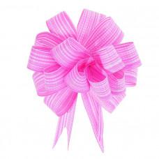 Бант-шар 1,8 см, розовый, диаметр 10 см