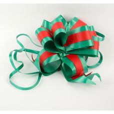 """Бант-шар  """"Феерия цвета"""" 5 см, красный, зеленый, диаметр 11 см"""