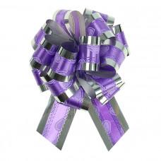 """Бант-шар """"Воздушные сердца"""", 3,2 см, фиолетовый, диаметр 10 см"""