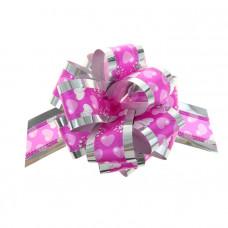 """Бант-шар """"Воздушные сердца"""", 5 см, розовый, диаметр 15 см"""