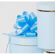 """Бант """"Шар"""", перламутровый, 5 см, синий, диаметр 15 см"""
