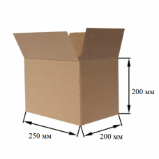 Коробка картонная 250х200х200мм