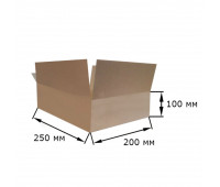 Коробка картонная 250х200х100мм