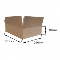 Коробка картонная 335х290х80мм