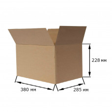 Коробка картонная 380х285х228мм