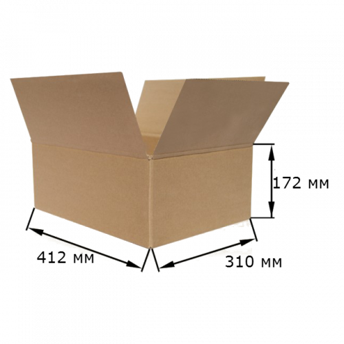 Коробка картонная 412х310х172мм