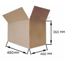 Коробка картонная 480х460х360мм, 4-клапана, бурый, Т24С, 79л, 0,07м3