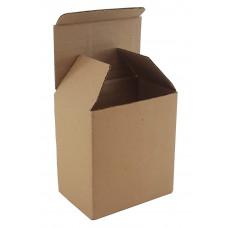 Коробка самосборная 95х85х140мм,бурый