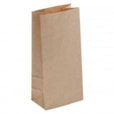 Крафт пакет бумажный бурый 80х170х50мм