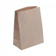 Крафт пакет бумажный бурый 220х290х120мм