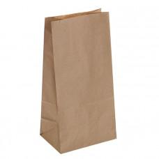 Крафт пакет бумажный бурый 120х240х80мм