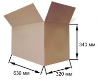 Коробка картонная 630х320х340мм, 4-клапана, бурый, Т23С, 69л, 0,07м3