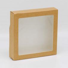 Коробка универсальная с окном, 200х200х40 мм, 1,6 л