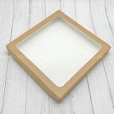 Коробка универсальная с окном, 260х260х40 мм, 2,7 л