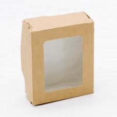 Коробка универсальная с окном, 100х80х35 мм, 0,28 л