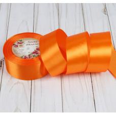Лента атласная для декора и подарков, 40 мм х 1 м, цвет оранжевый
