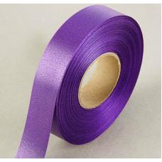 Лента атласная для декора и подарков, 20 мм х 1 м, цвет фиолетовый