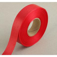 Лента атласная для декора и подарков, 20 мм х 1 м, цвет красный