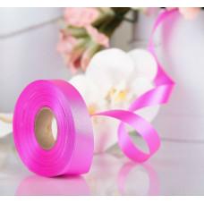Лента атласная для декора и подарков, 20 мм х 1 м, цвет малиновый