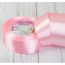 Лента атласная для декора и подарков, 40 мм х 1 м, цвет розовый