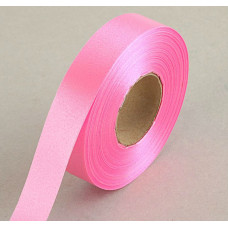 Лента атласная для декора и подарков, 20 мм х 1 м, цвет розовый