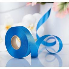 Лента атласная для декора и подарков, 20 мм х 1 м, цвет синий