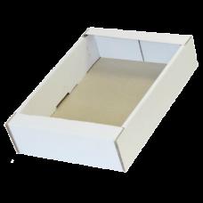 Лоток картонный 285х230х70мм, белый