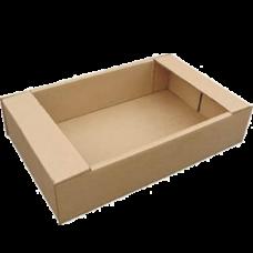 Лоток картонный 285х230х70мм, бурый
