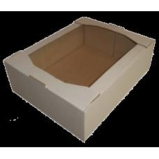 Лоток картонный 380х280х90мм, бурый