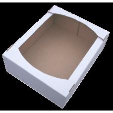 Лоток картонный  390х280х110мм, белый