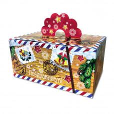 """Упаковка для новогоднего подарка """"Поздравляем"""", 1200 гр"""