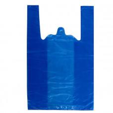 Пакет майка ПНД 30*55, 23 мкм, синий
