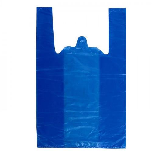 Пакет майка  30*55, 23 мкм, синий