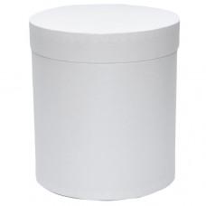 Коробка шляпная с крышкой, 100х100мм, цвет Белый, 0,8 л