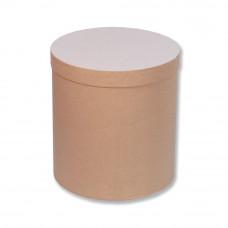 Коробка шляпная с крышкой, 100х100мм, Крафт