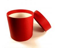 Коробка шляпная с крышкой, 100х100мм, цвет Красный, 0,8 л