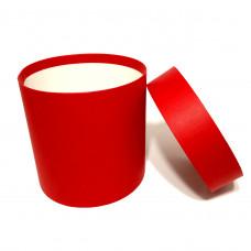 Коробка шляпная с крышкой, 150х150мм, цвет Красный, 2,6 л