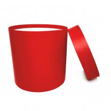 Коробка шляпная с крышкой, 200х200мм, цвет Красный, 6,2 л