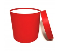 Коробка шляпная с крышкой, 250х250мм, цвет Красный, 12 л