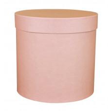 Коробка шляпная с крышкой, 100х100мм, цвет Розовый, 0,8 л