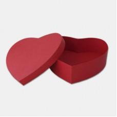 Коробка крышка-дно СЕРДЦЕ, 230х100мм, , красный матовый