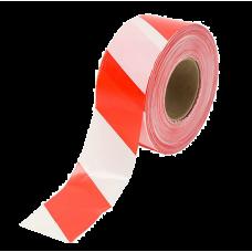 Сигнальная красно-белая лента, 50мм х 200м