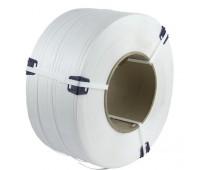 Лента полипропиленовая белая 15мм х 1 мм, Бухта 1200м